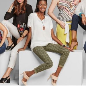 CABI Skinny Jeans Style#5083 Ditzy Floral